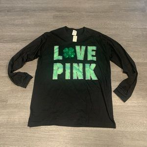 NWT PINK St. Patrick's Day Top